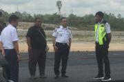 Kepala Dinas Pehubungan Kabupaten Barito Utara Meninjau Pembangunan Bandara Haji Muhammad Sidik
